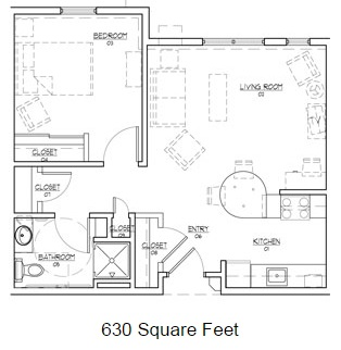 Crossings unit b onebedroom sm