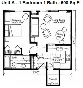Heights Unit A 1bd Small