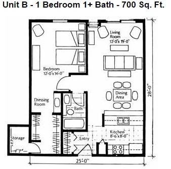 Heights Unit B 1bd Small