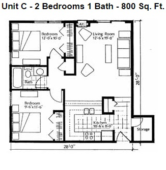 Heights Unit C 2bd Small