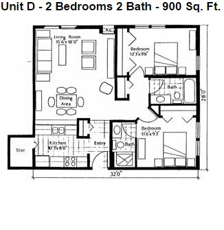 Heights Unit D 2bd Small