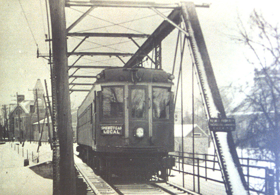 Photo of Interurban bound for Sheboygan.