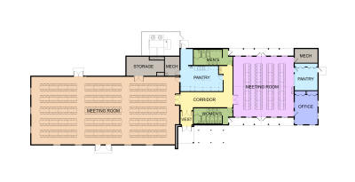 Ozaukee County Pavilion Plan with Rectangle Tables