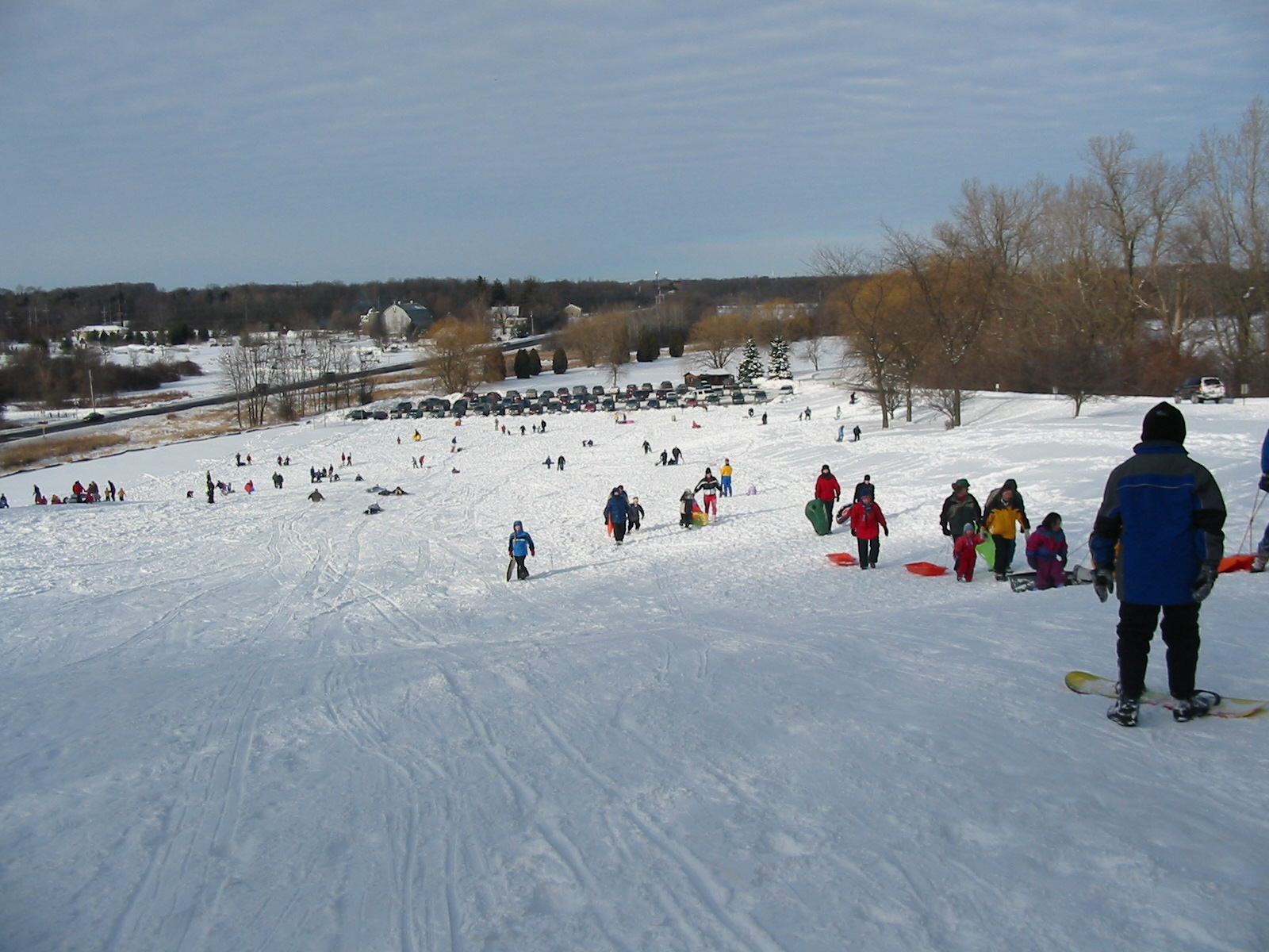 Sledding at MeeKwon Park