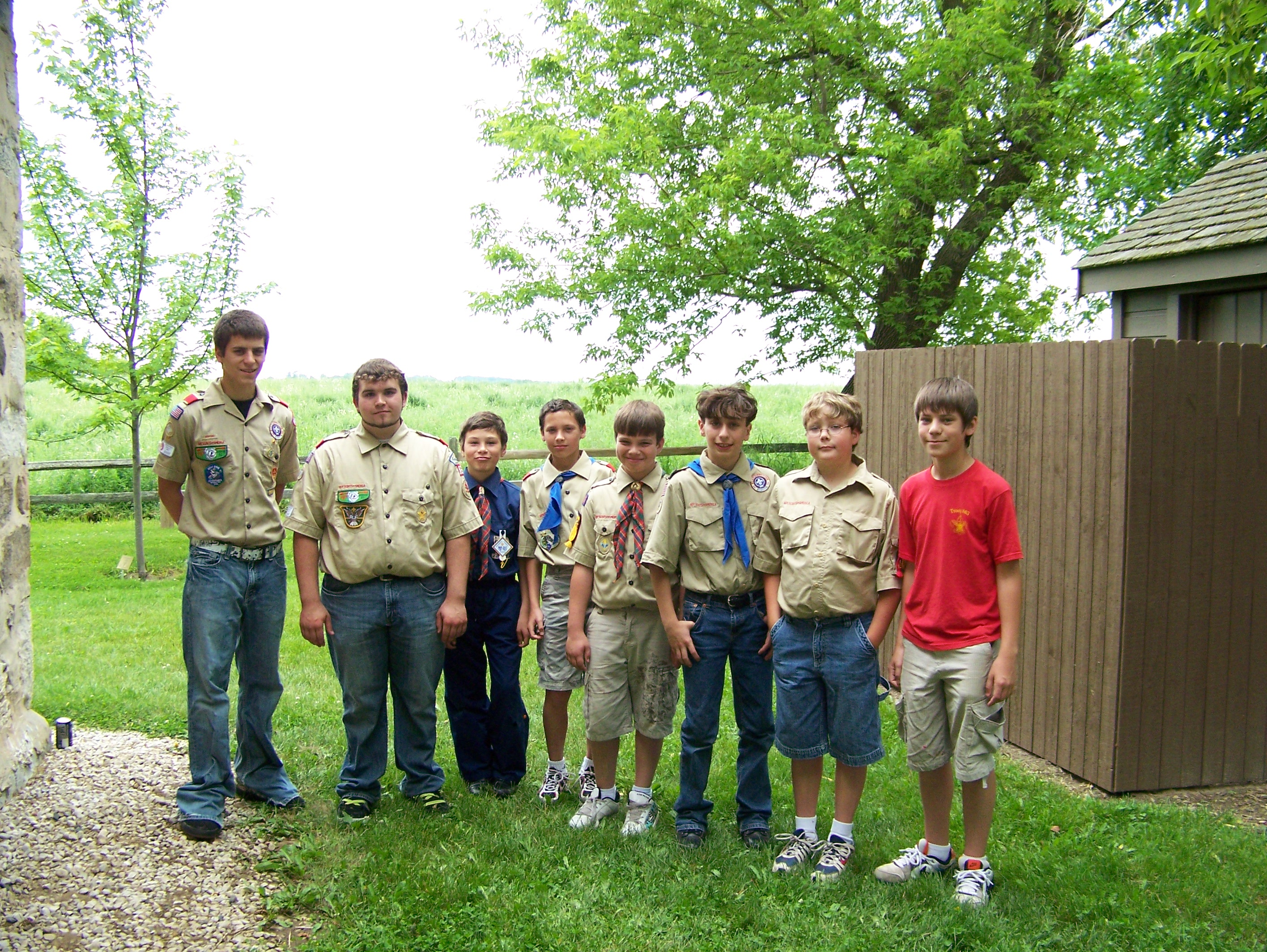 A Mix of Boy and Cub Scouts of All Ranks