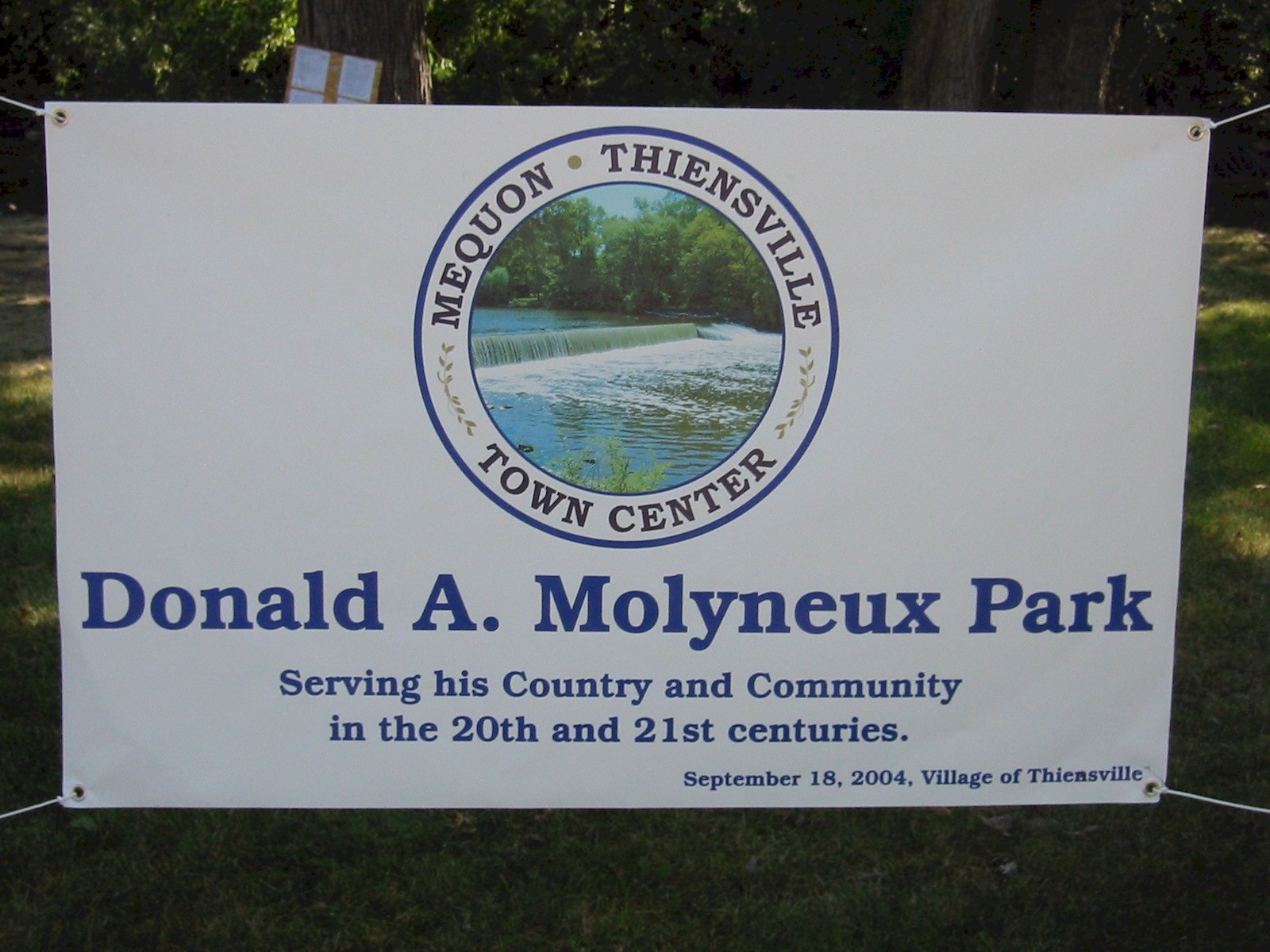 Canoe Launch and Park Dedication