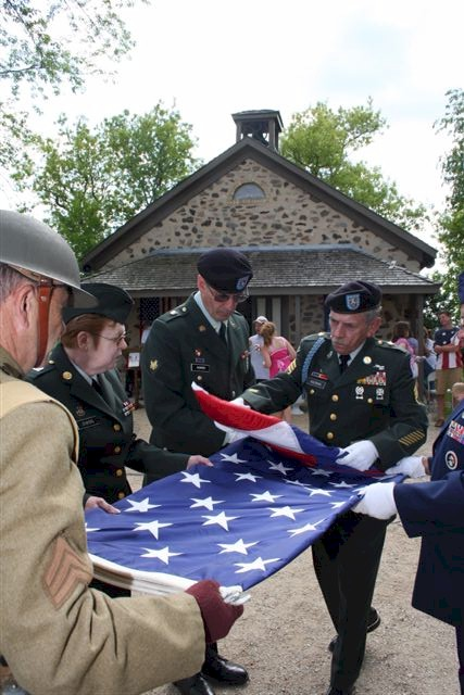 Military Color Guard Properly Folding Flag