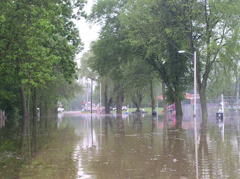 Milwaukee River Flooding in Saukville