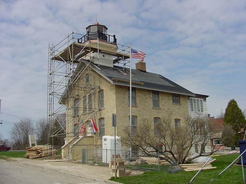 Left side view of the exterior of the light station restoration.