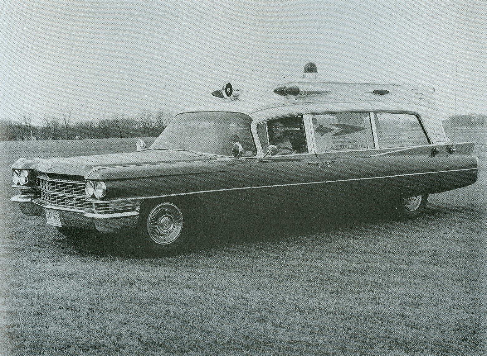 Old ambulance station wagon.