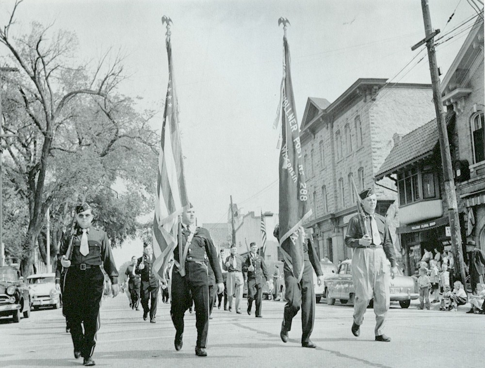 Members of the Peter Wollner American Legion Post during the Military Parade.