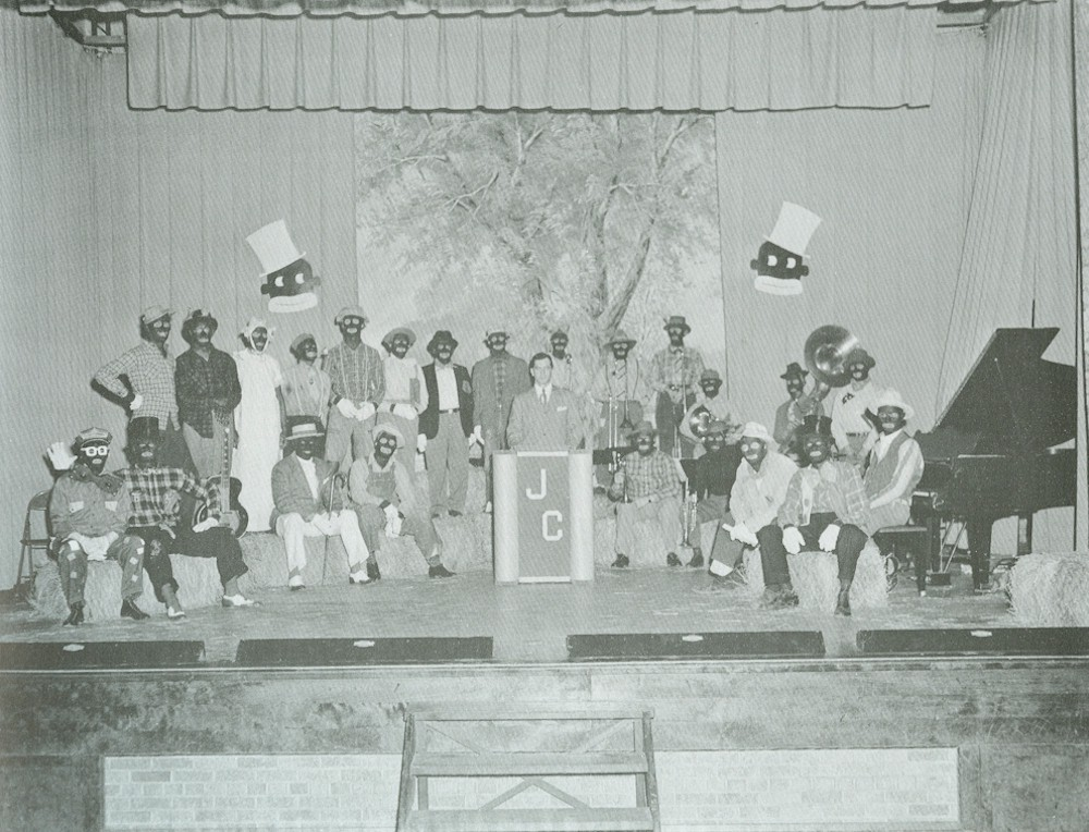 Group photo of the traveling minstrel show members.