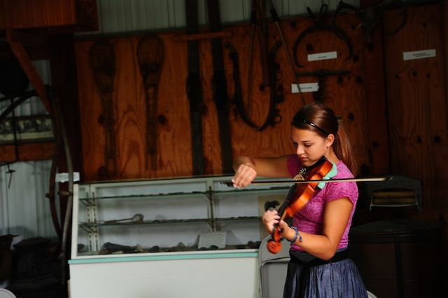 Violin Work in Shop